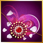 picture of rakhi  - vector rakhi background with space for your text - JPG