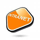 stock photo of intranet  - modern intranet sign - JPG