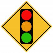 image of traffic light  - traffic sign - JPG