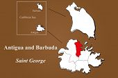 Antigua And Barbuda - Saint George Highlighted