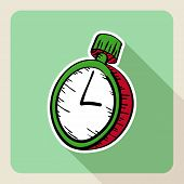 foto of stopwatch  - Sketch style real estate stopwatch flat icon - JPG