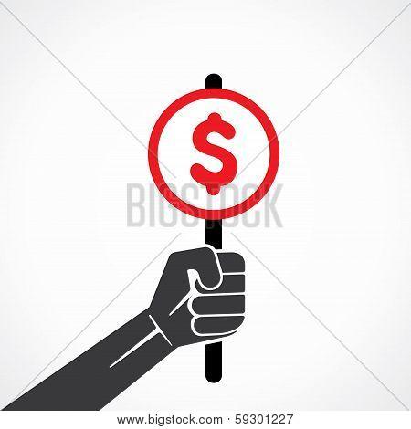 dollar sign board