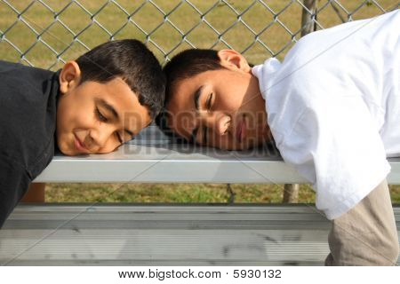 Sleeping on the bench