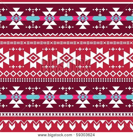 Tribal aztec vector seamless pattern