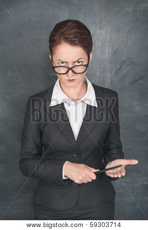 Strict Teacher With Pointer