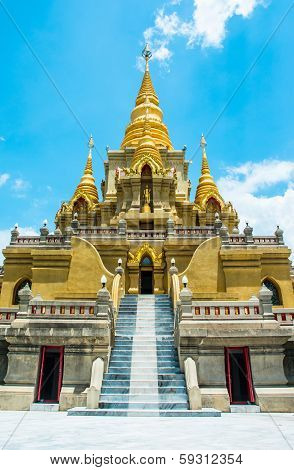 Golden Stupa Relegion Of Thailand