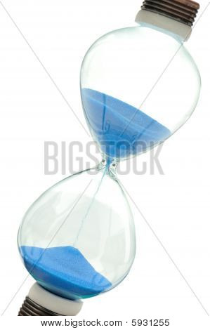 Sand-glass On Dollars Blue Tone