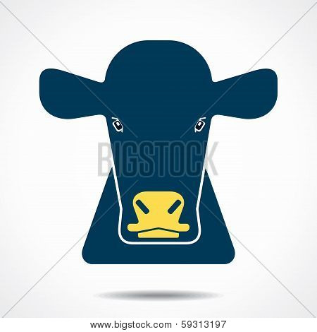 cow creative face stock vector