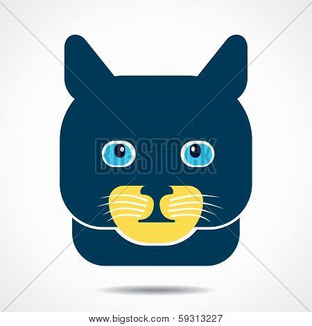 cat creative face stock vector