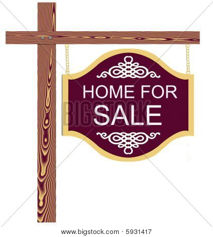 Fancy Home For Sale Sign