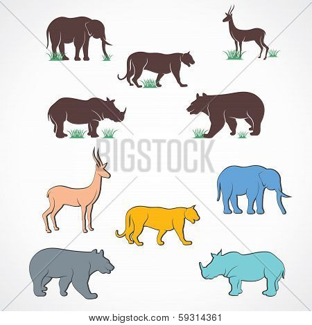creative sketch animal design stock vector