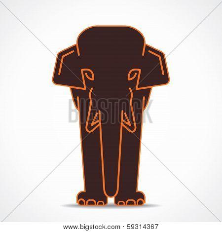 creative elephant design stock vector