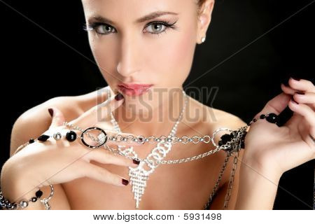 Ambition And Greed In Fashion Woman With Jewelry