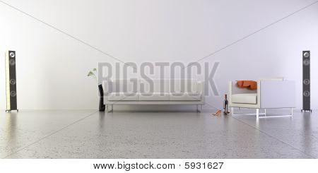 Modern Living Room Setting