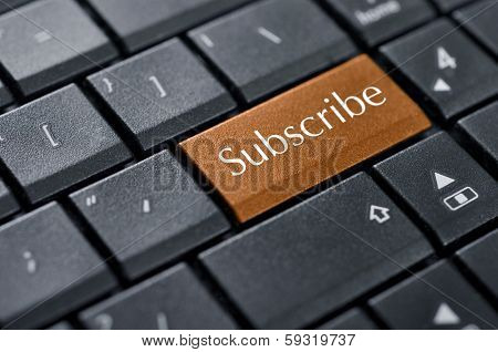Words Subscribe On Button