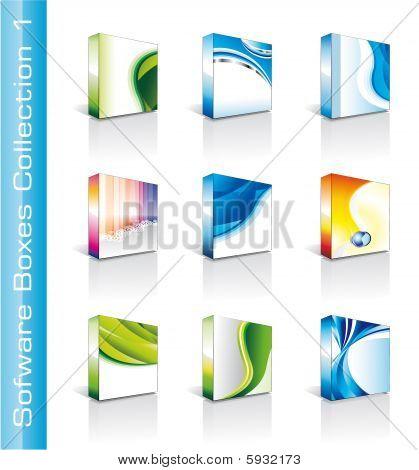 Colección de cajas de software