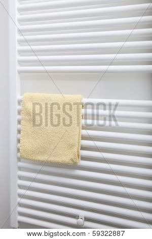 Hand Towel On A Bathroom Radiator