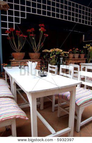 Restaurant in a garden