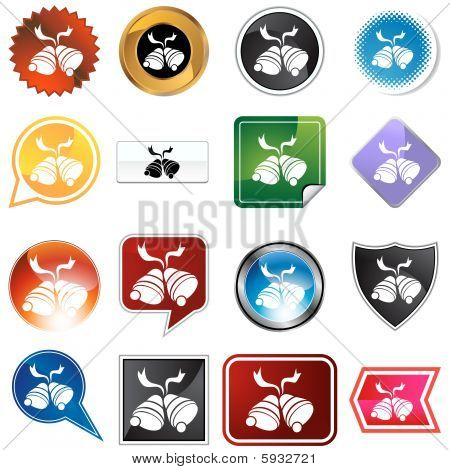 christmas bells icon variety set