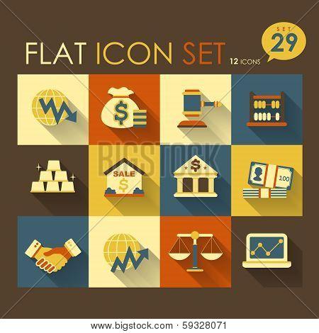 Economic Activities & Financial Icon Set