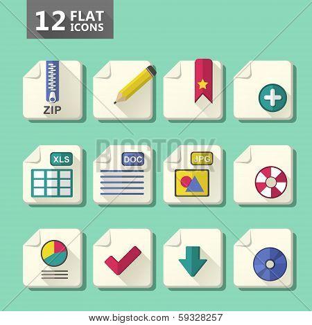 Flat Design Icon Set