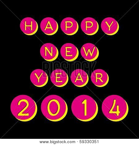 creative happy new year 2014 vector