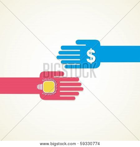 exchange idea and money concept vector