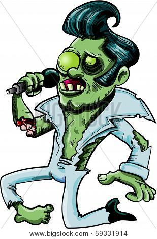 Cartoon zombie singing
