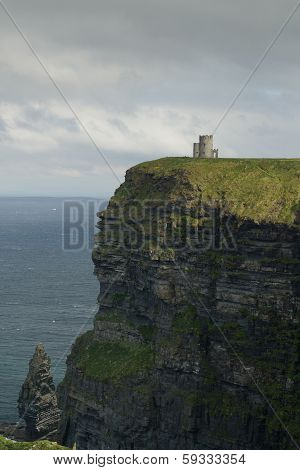 Cliffs Of Moher In Vertical Position, Ireland