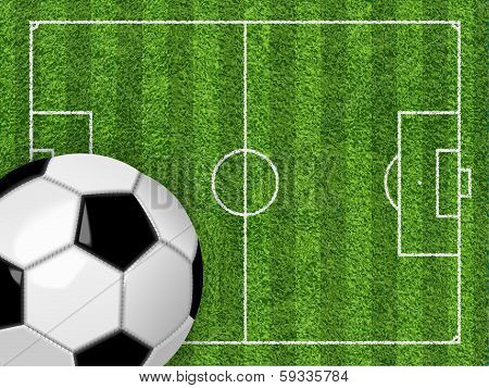 Soccer field and ball