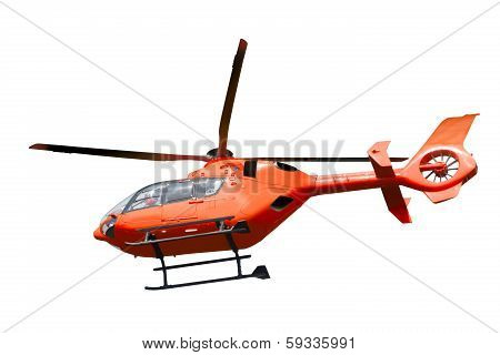 Rescue Helicopter Isolated