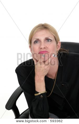 Executive Business Woman Thinking 5