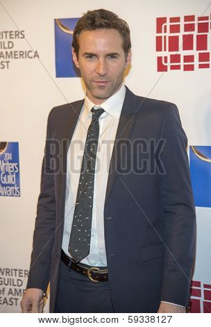 NEW YORK-FEB 1: Model Alessandro Nivola attends the 66th Annual Writers Guild Awards Ceremony at the Edison Ballroom on February 1, 2014 in New York City.