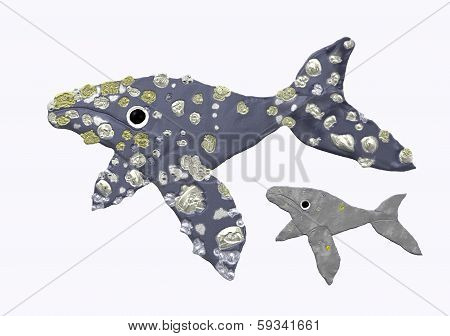 Gray whale mother