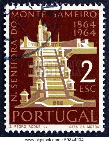 Postage Stamp Portugal 1964 Mt. Sameiro Church
