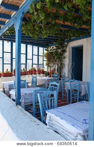 Terrace On Paros Island
