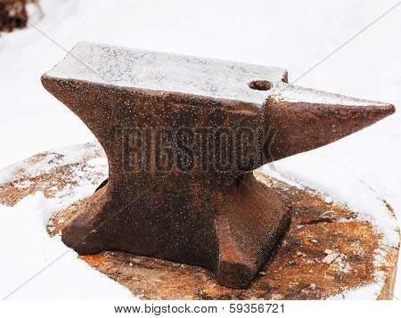 Anvil In Old Abandoned Village Smithy