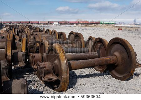 train wheels for metal recycling