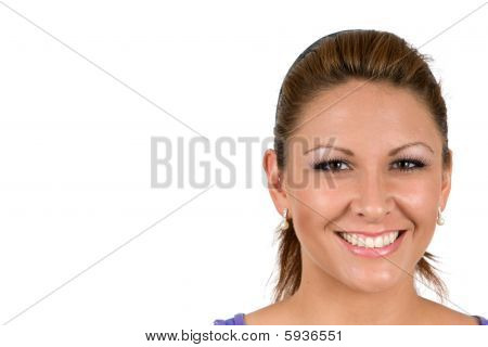 Happy Faced Woman