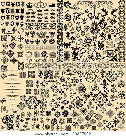 Design elements set poster