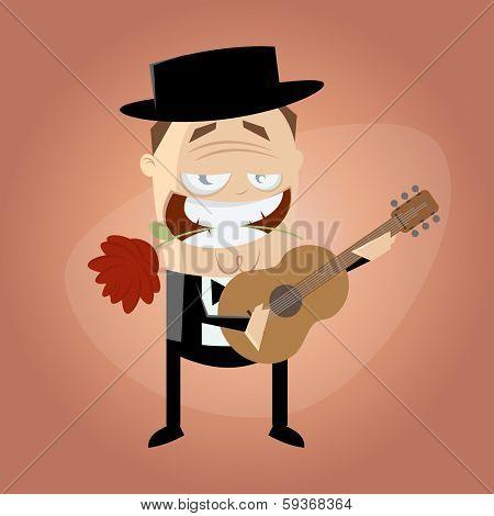 romantic guitar player