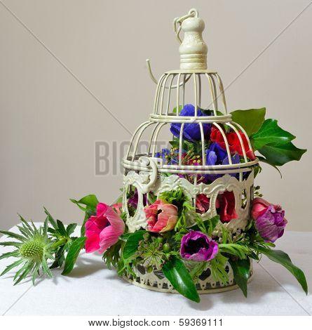 Bird Gage Bouquet