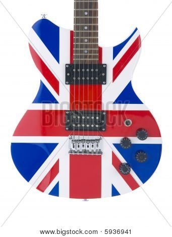 Electric Guitar Body With British Flag