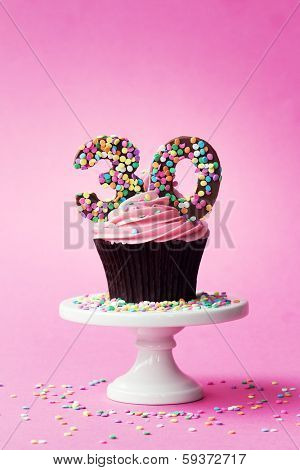 30th birthday cupcake