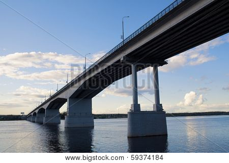 City of Perm. Communal Bridge.