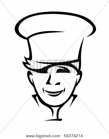 Modern young chef or cook