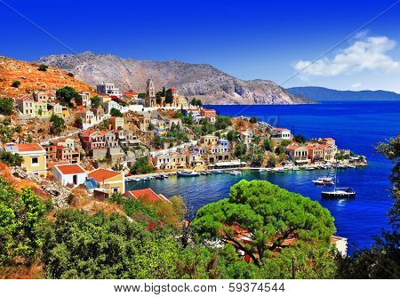beautiful Greek islands - Symi, Dodecanese