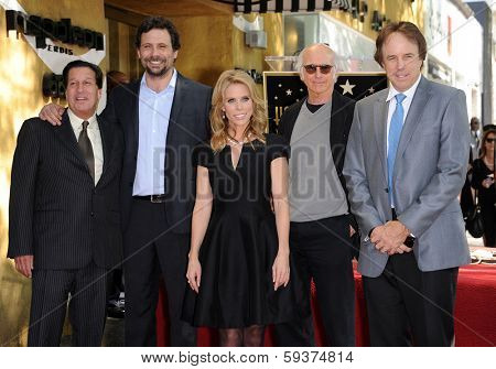 LOS ANGELES - JAN 29:  Peter Roth, Jeremy Sisto, Cheryl Hines, Larry David and Kevin Nealon Walk of Fame Honors Cheryl Hines  on January 29, 2014 in Hollywood, CA