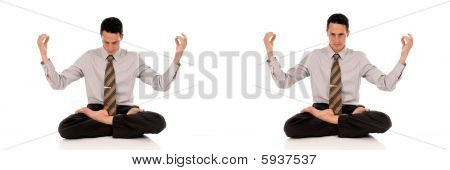 Businessman Meditating Yoga