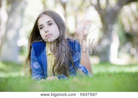 Retrato de muchacha de interpolación